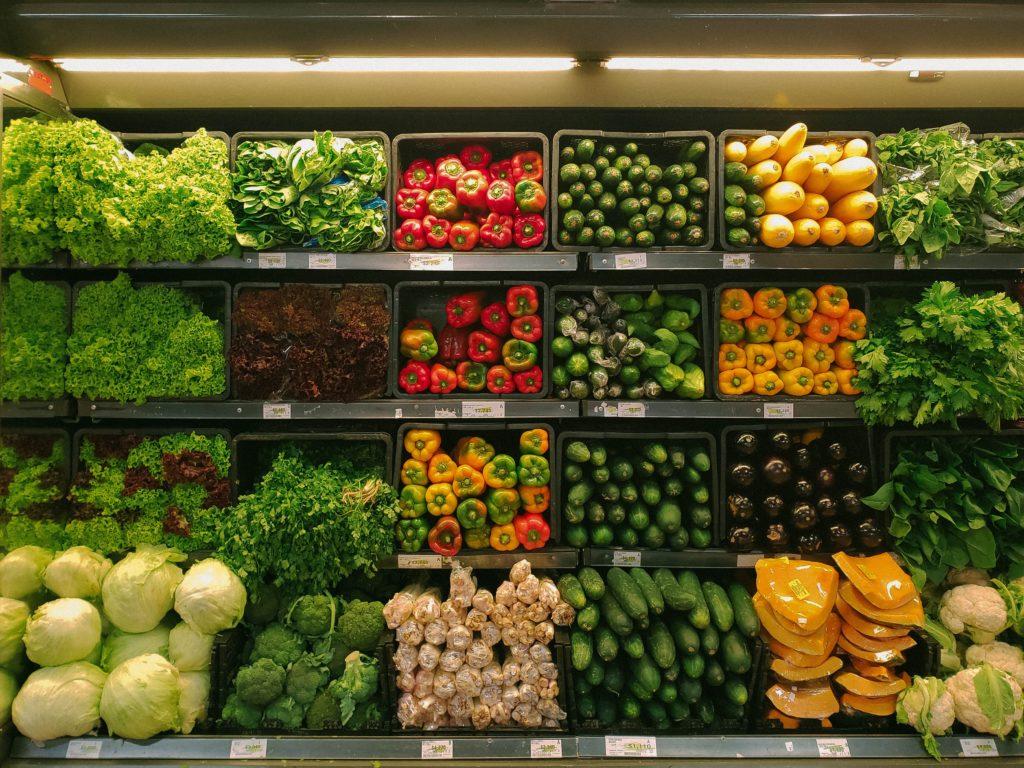 veggies on display